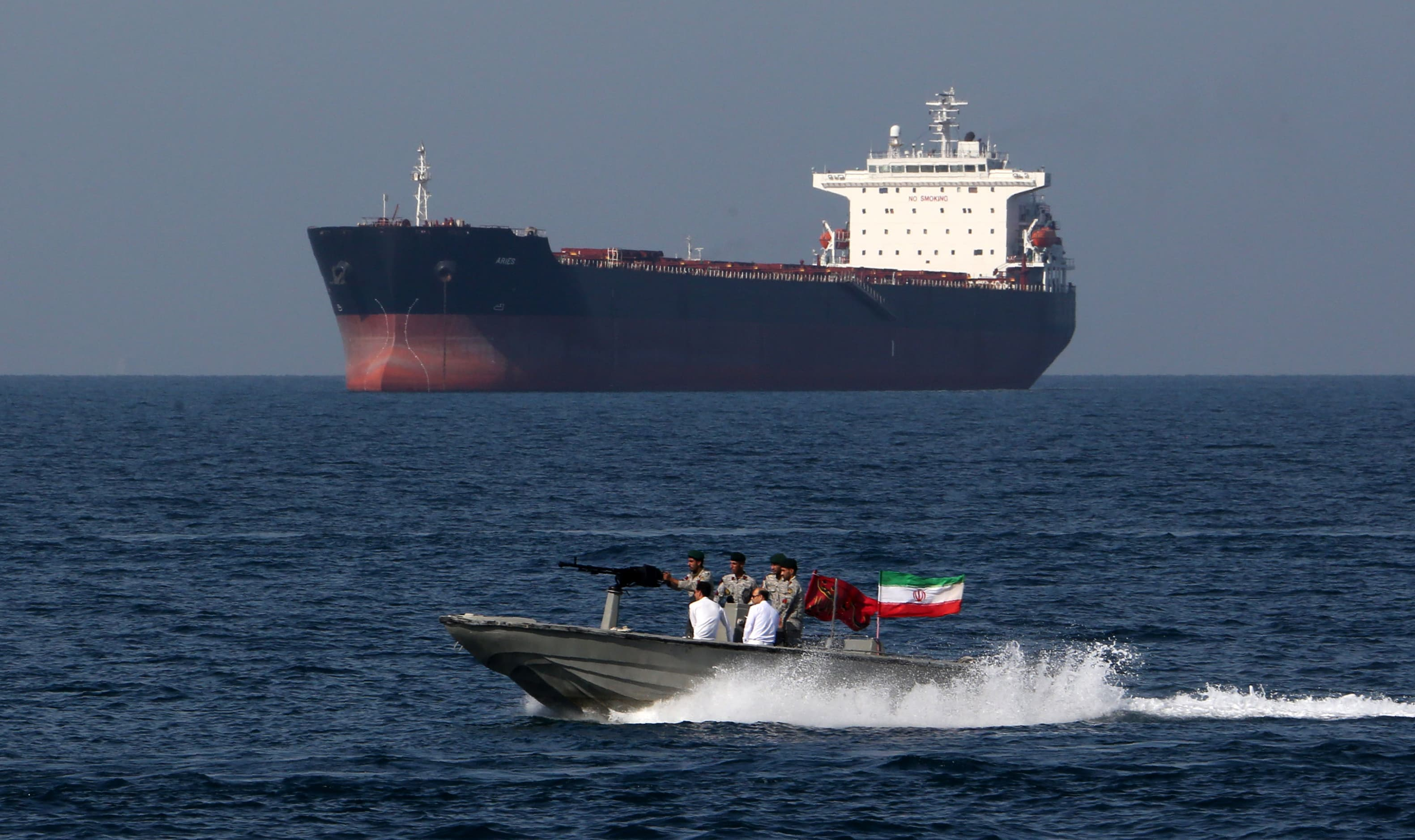 Iranian boats harass British tanker in the Gulf: US officials thumbnail