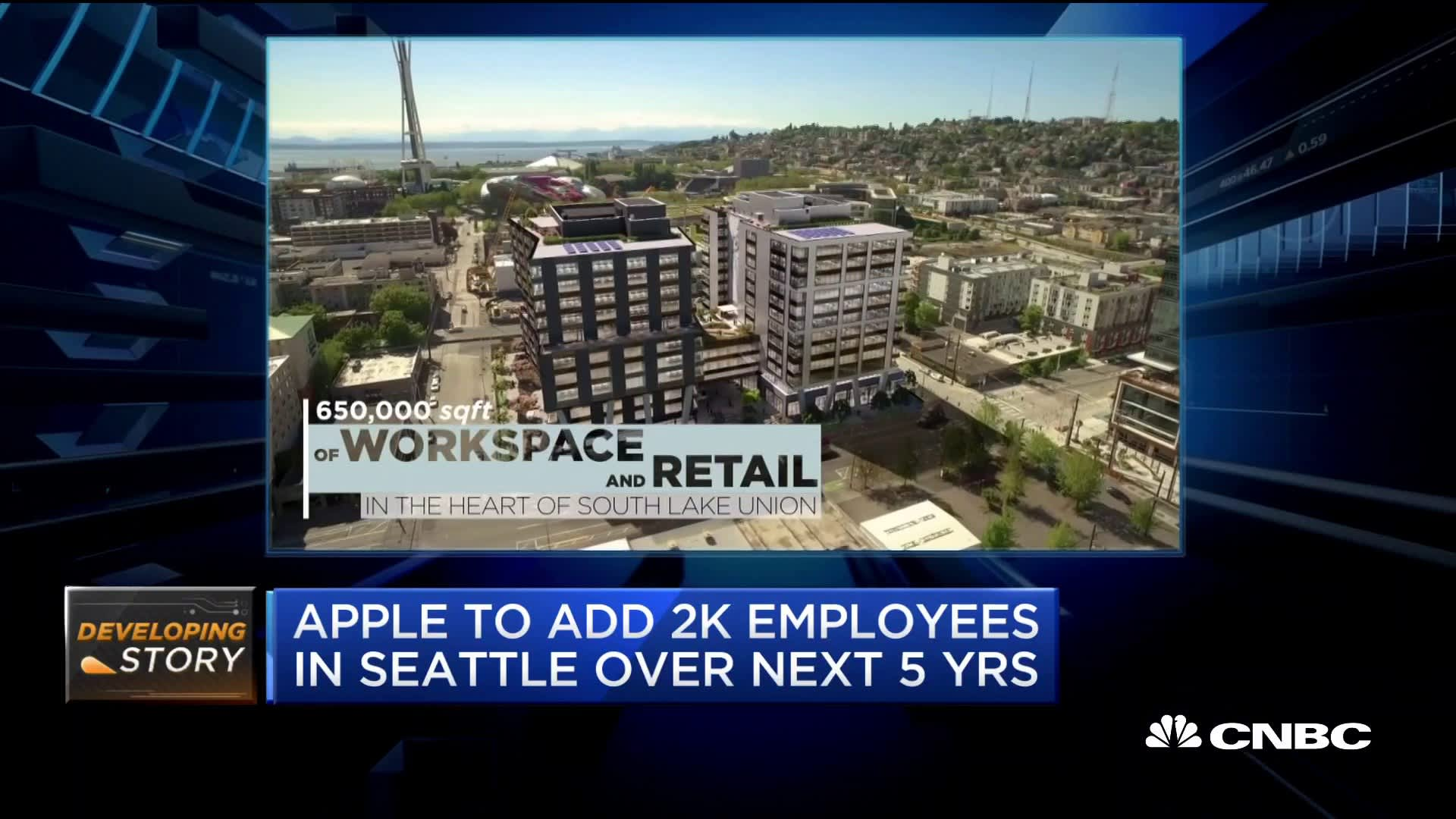 Apple will put 2,000 employees in new Seattle hub near Amazon headquarters