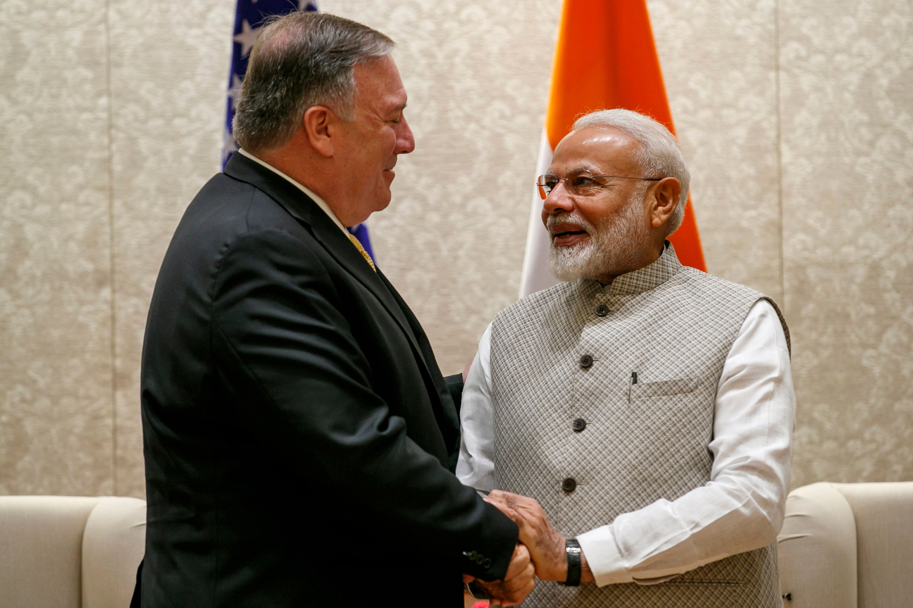 Pompeo meets Indian leader amid trade tensions, Iran crisis