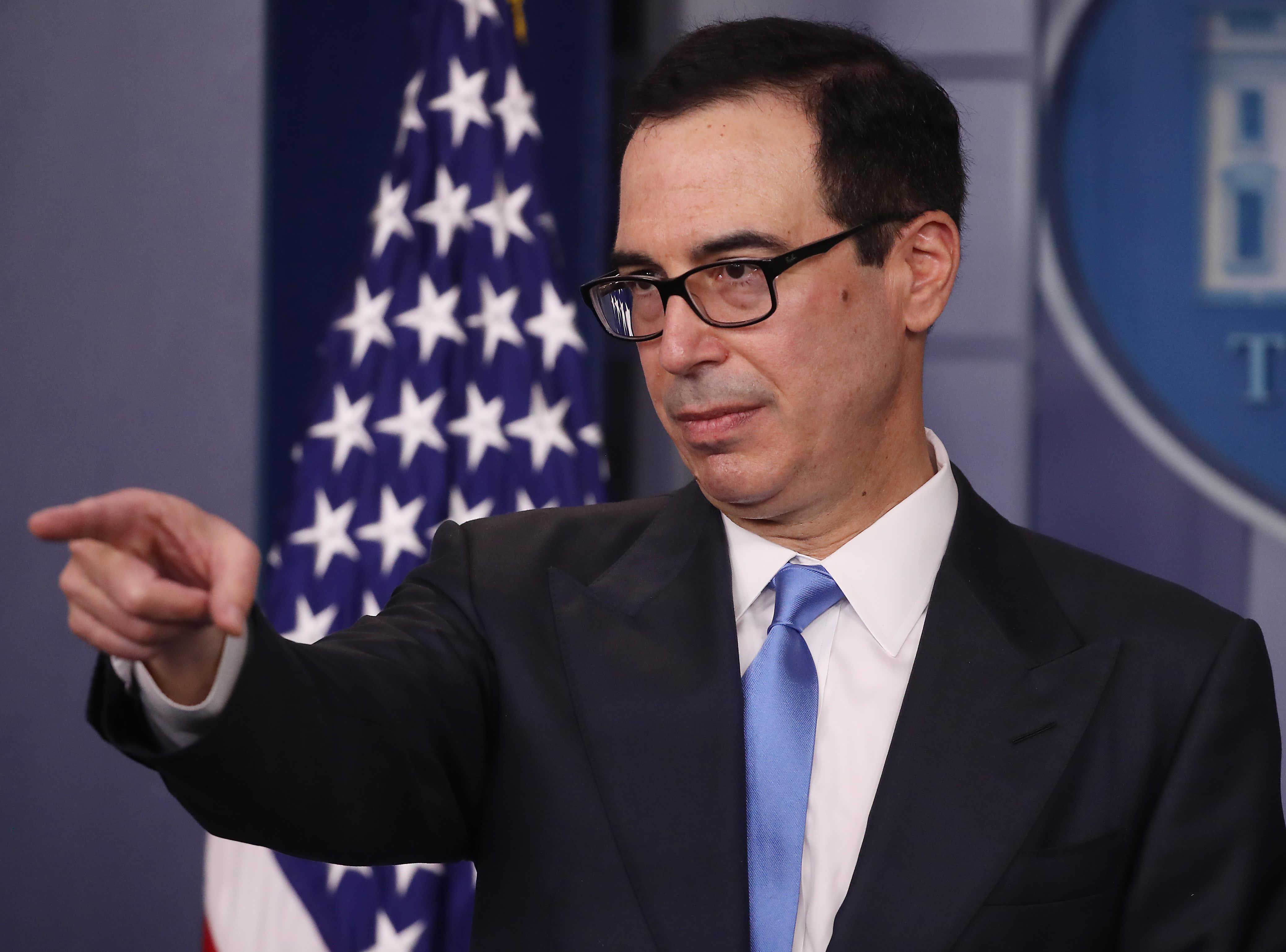 Treasury Secretary Mnuchin says sanctions must be working for Iran leadership to be so upset