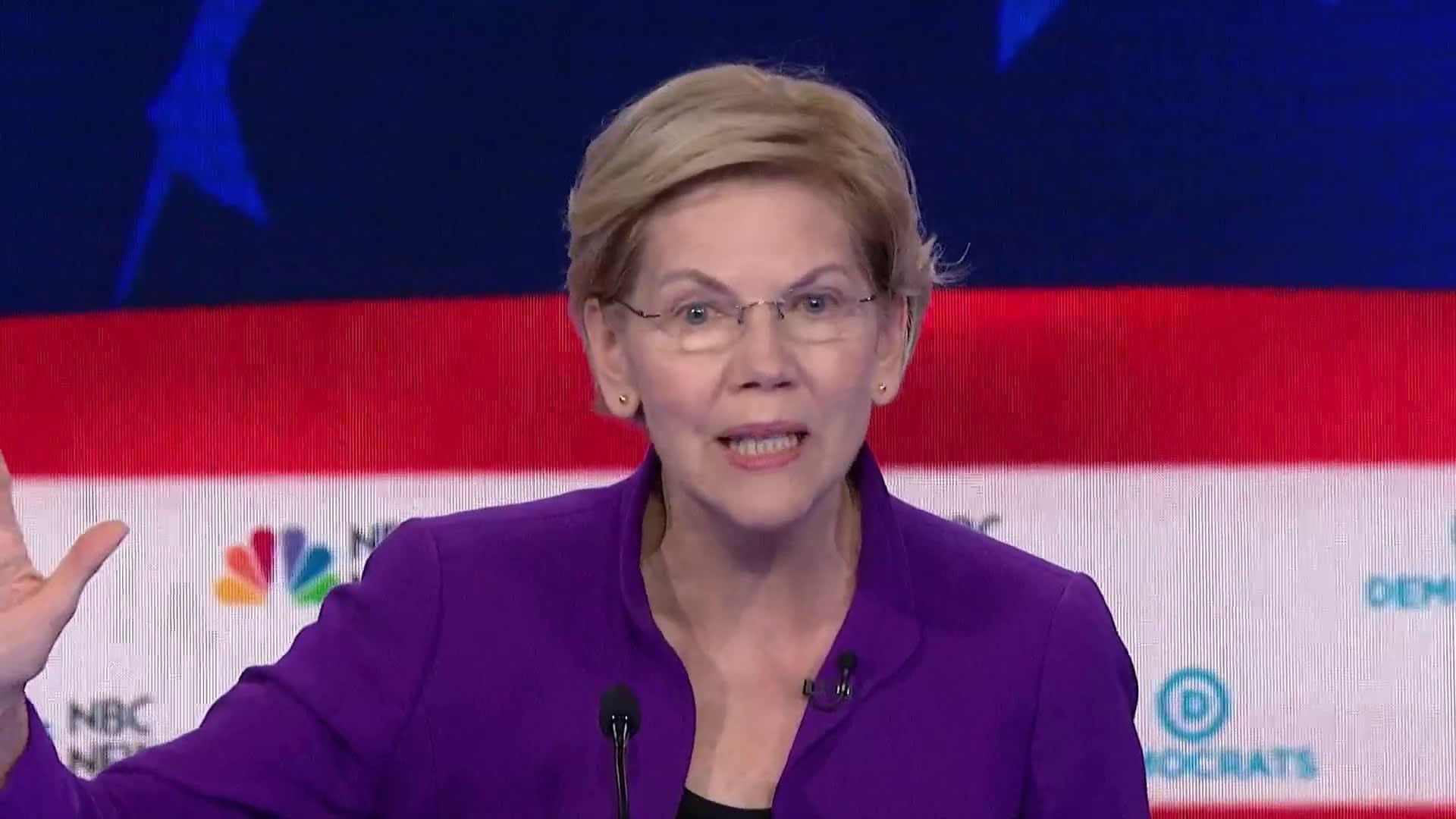 Elizabeth Warren says the 'warning lights are flashing' for the next economic crash