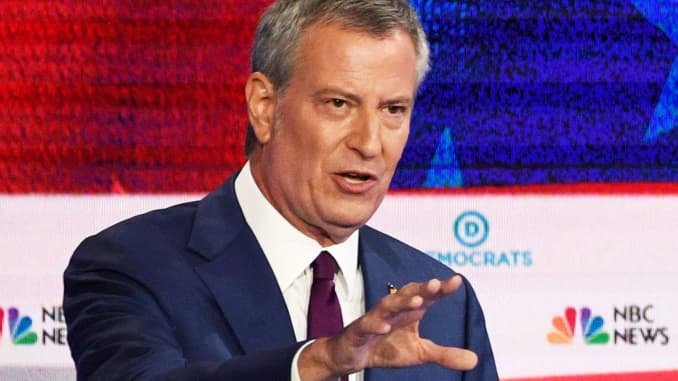 New York State Primary Elections 2020.New York Mayor Bill De Blasio Drops Out Of Presidential Race