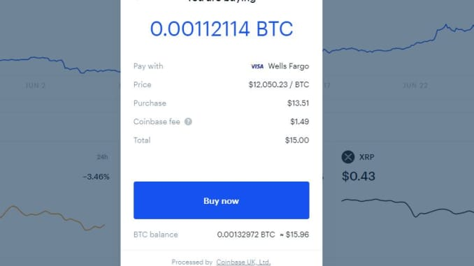 Review what you're buying before you make a purchase. Also note teh Coinbase fee.