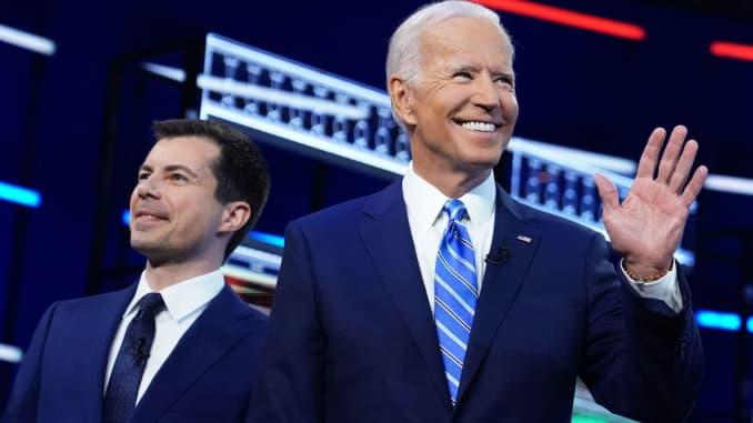 Biden, Harris and Buttigieg rack up donations from Wall