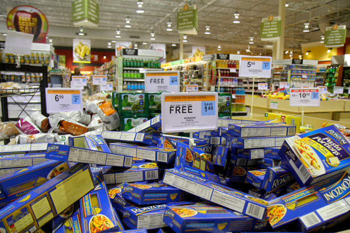 GP: Buy one get one free retail display in Publix, grocery store.