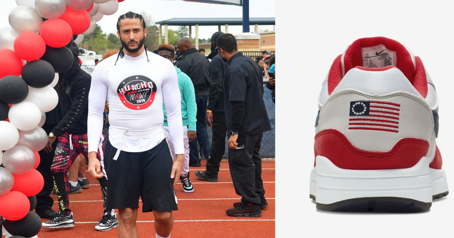 21c86526d10 Nike pulls 'Betsy Ross flag' sneakers after Colin Kaepernick steps in