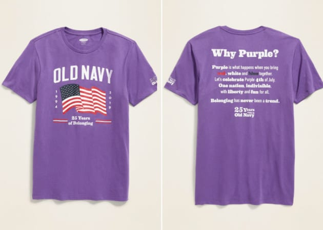 H/O: Old Navy American flag purple shirt
