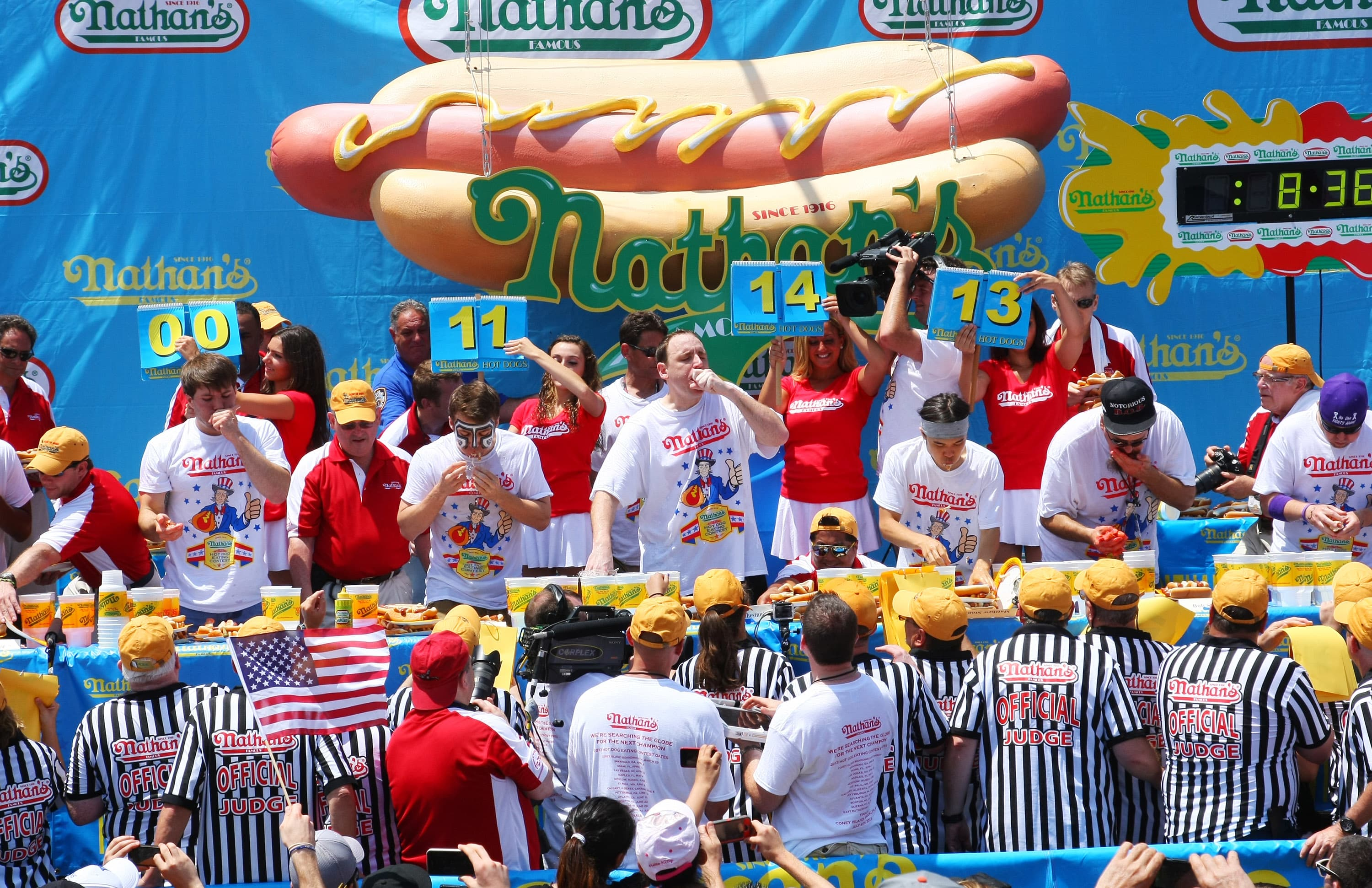 Nathan's hot dog eating contest offers the frank a rare chance to shine