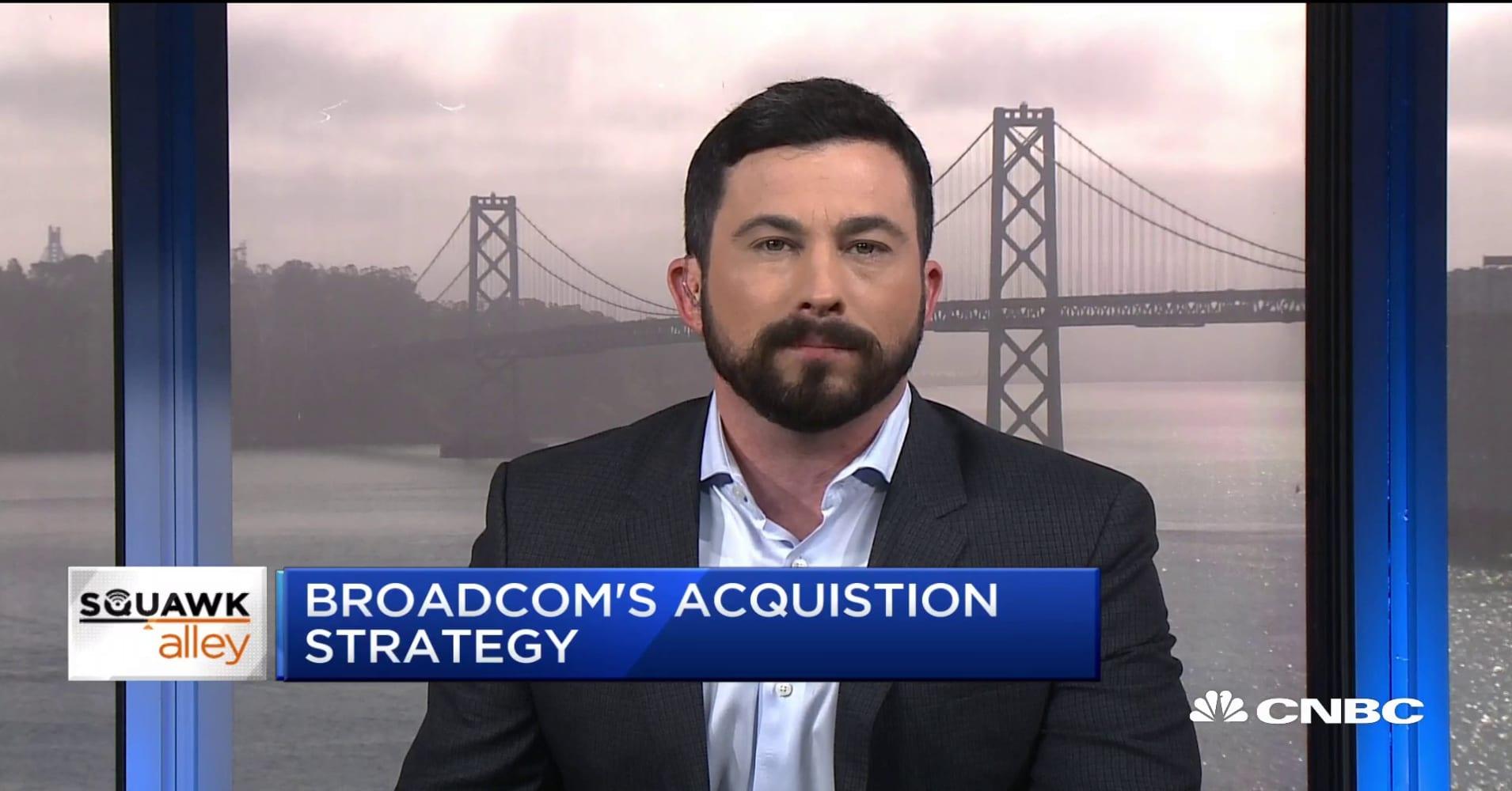 Broadcom's acquisition strategy with Symantec