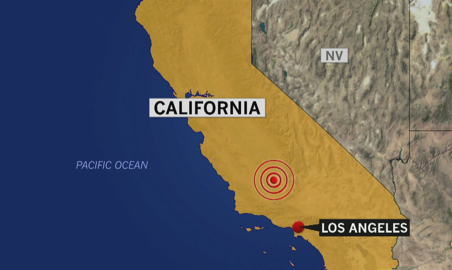 Strong earthquake sets off fires, damages desert city east of Los Angeles