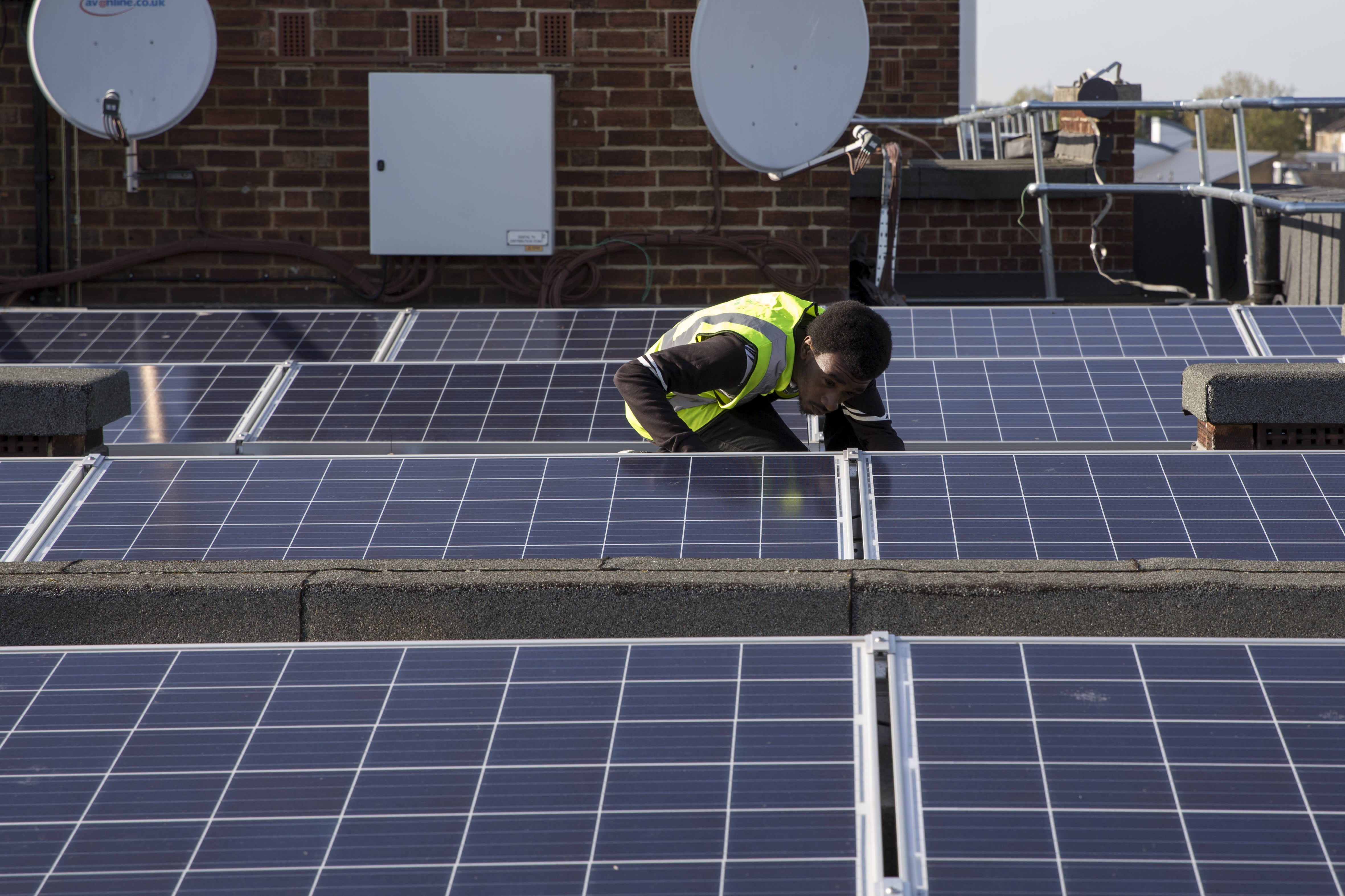 Londoners are getting together to install solar panels on their apartment blocks