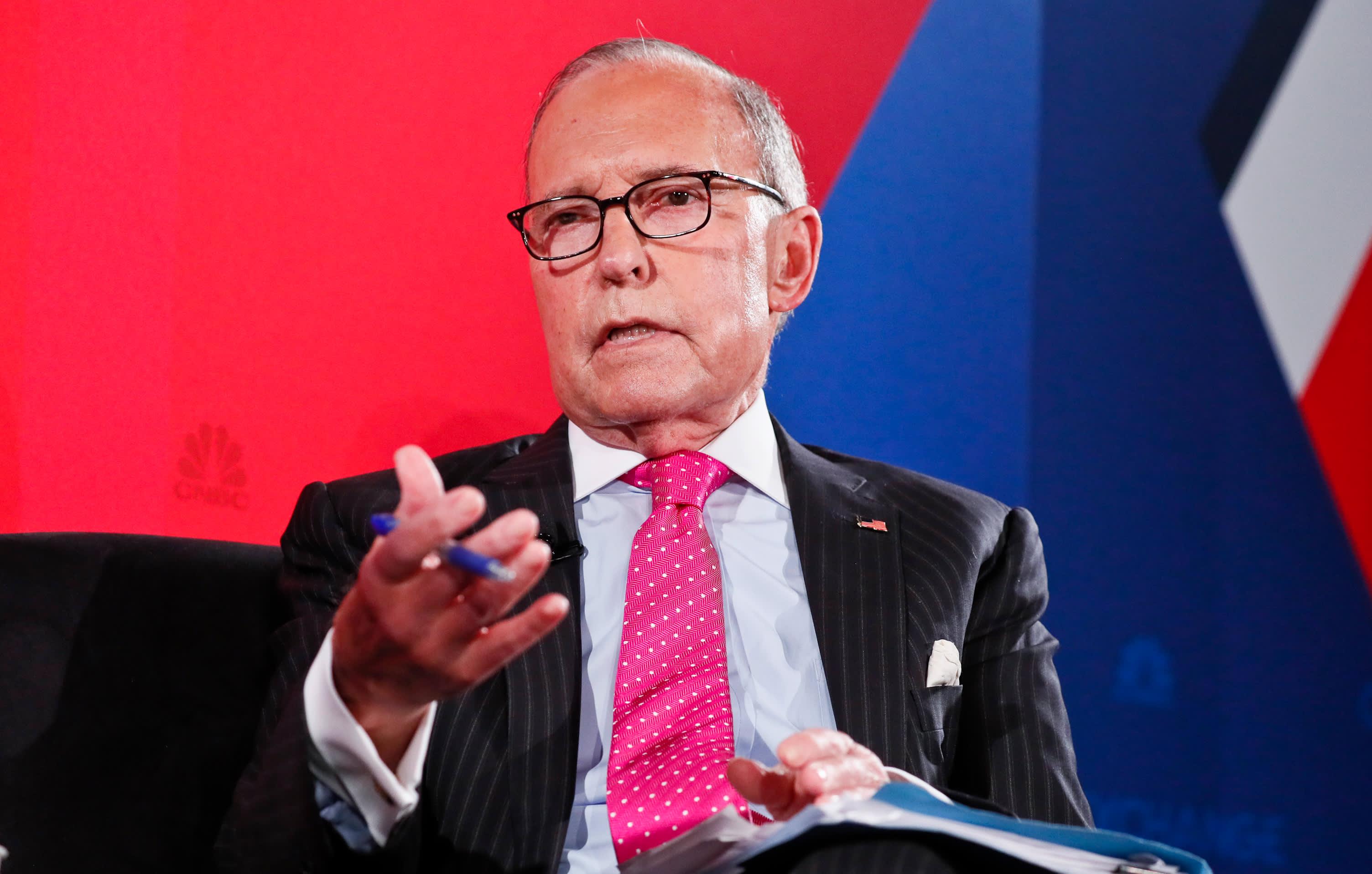 White House top economic advisor Larry Kudlow says economic growth will top 3% this year