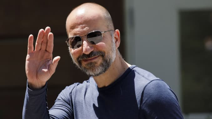 GP: 2019 Sun Valley Arrivals: Dara Khosrowshahi, chief executive officer of Uber Technologies Inc.