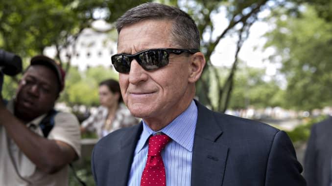 Michael Flynn, former U.S. national security adviser, exits federal court in Washington, D.C., on Monday, June 24, 2019.
