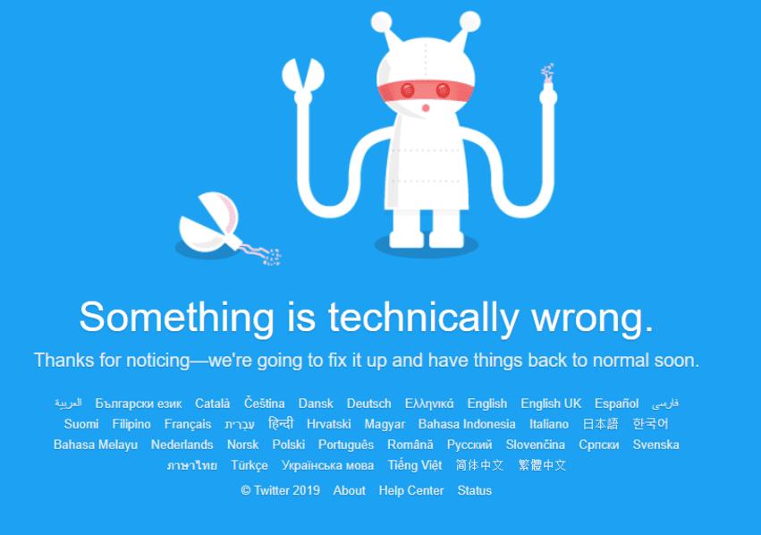 SCREENSHOT twitter down