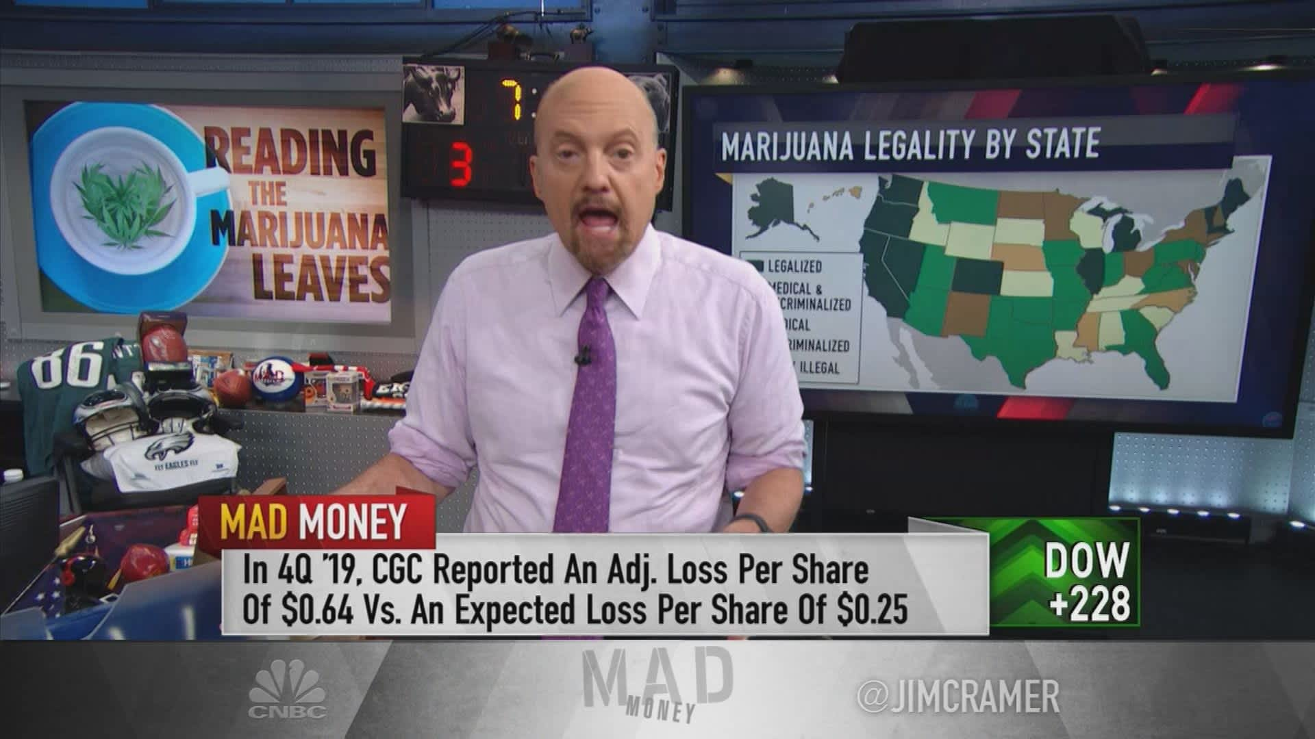 There has been a paradigm shift in the weed industry, Jim Cramer says