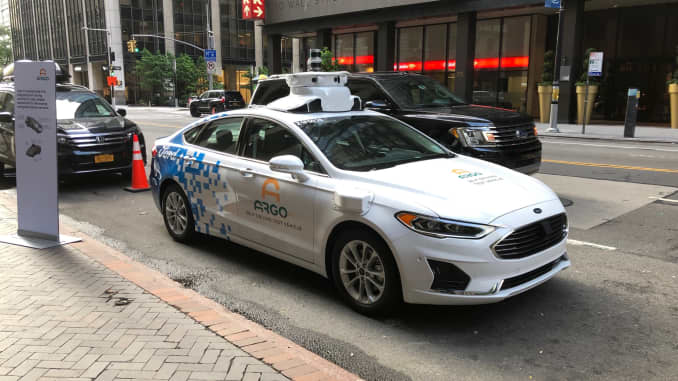Argo AI-modified Ford autonomous vehicle