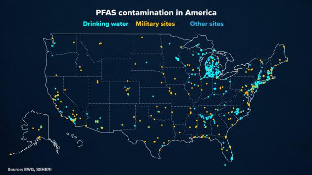 EWG PFAS Map digital video