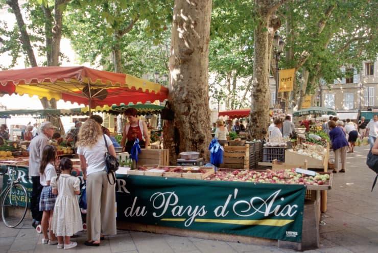 """GP: """"Market stall, Place Richelme, Aix-en-Provence"""""""