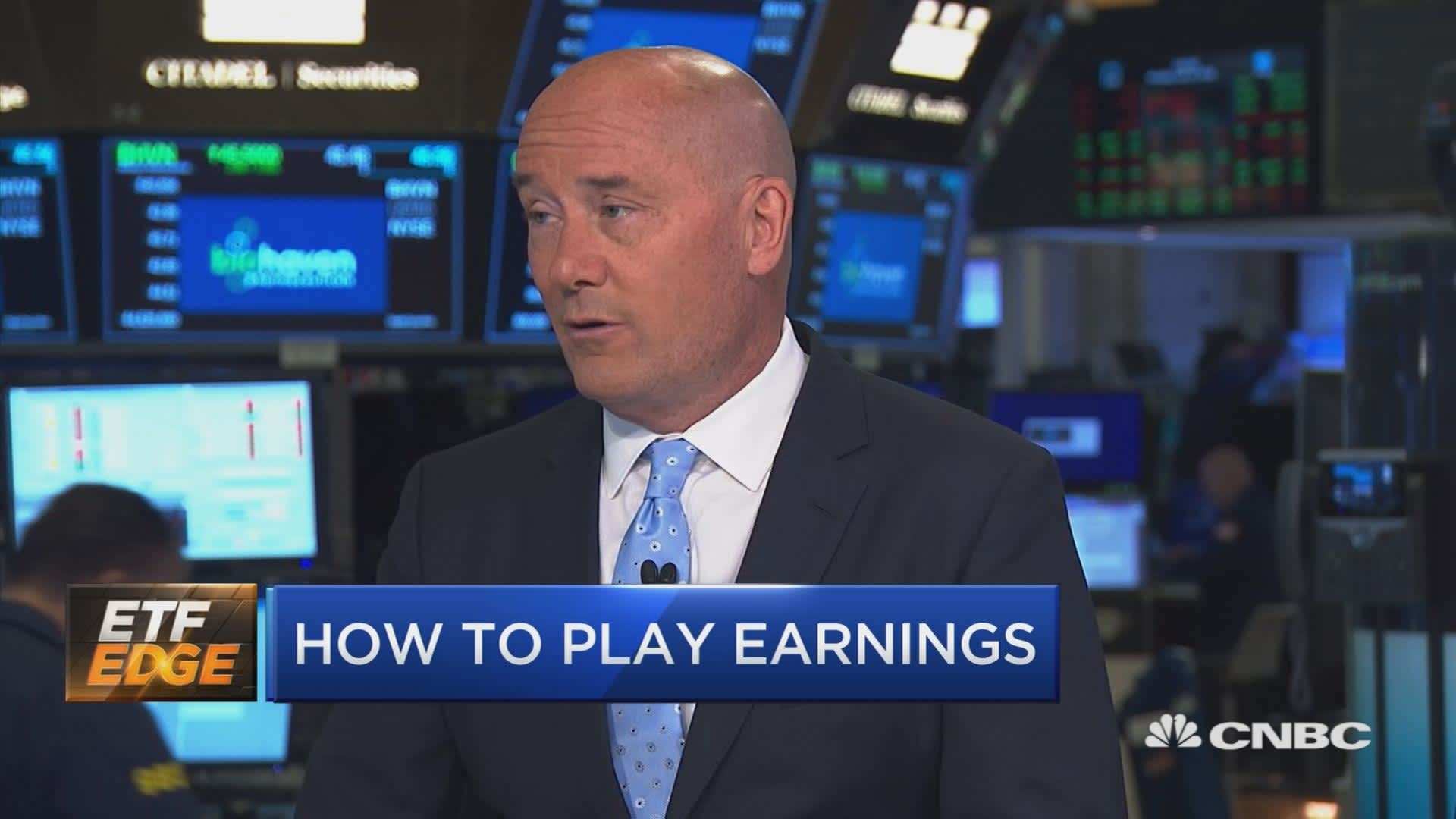 With stocks at all-time highs, here's how to navigate earnings season using ETFs