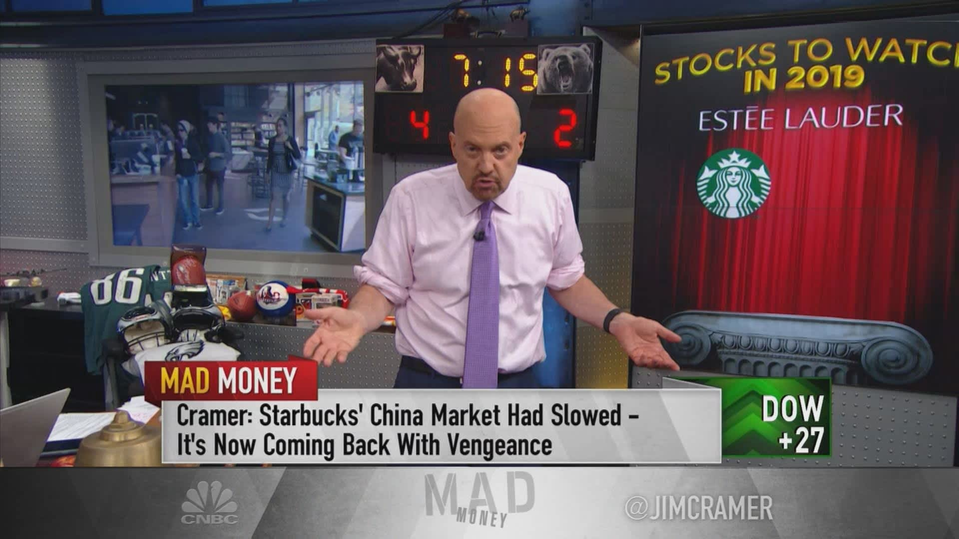 Jim Cramer reviews 6 stocks that 'have been anointed by Wall Street' amid an economic slowdown
