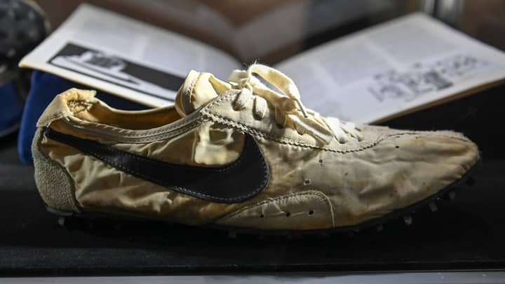 Sotheby's sells sneaker collection for $850,000. Rare Nike 'Moon Shoe' expected to fetch $160,000