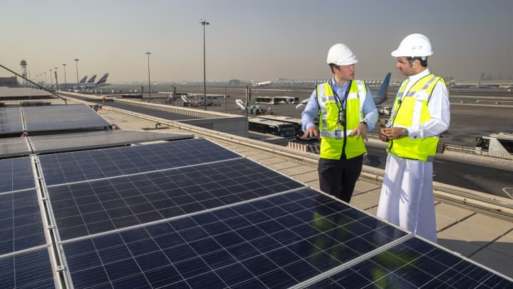 Dubai International airport installs 15,000 solar panels