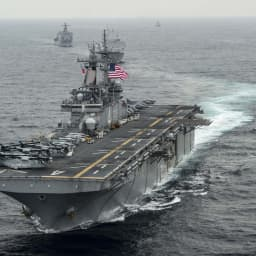 Trump says US Navy destroys Iranian drone in 'defensive action'