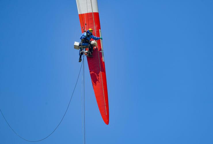GP: Trabalhador de turbina eólica