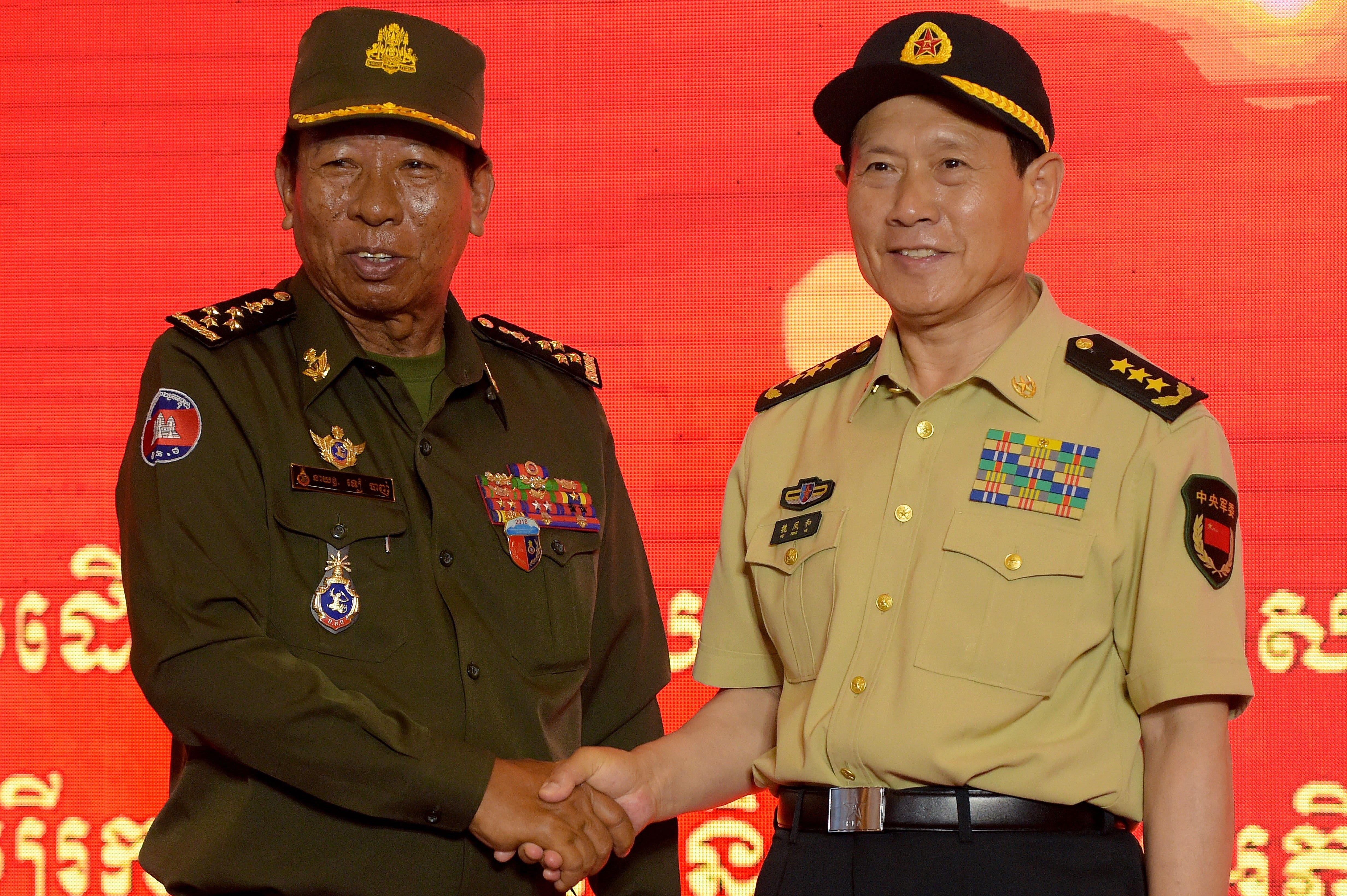 Cambodia denies deal to allow armed Chinese forces at its naval base