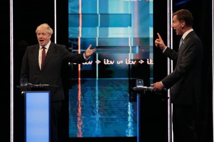 Premium: Jeremy Hunt And Boris Johnson Debate Head To Head On ITV