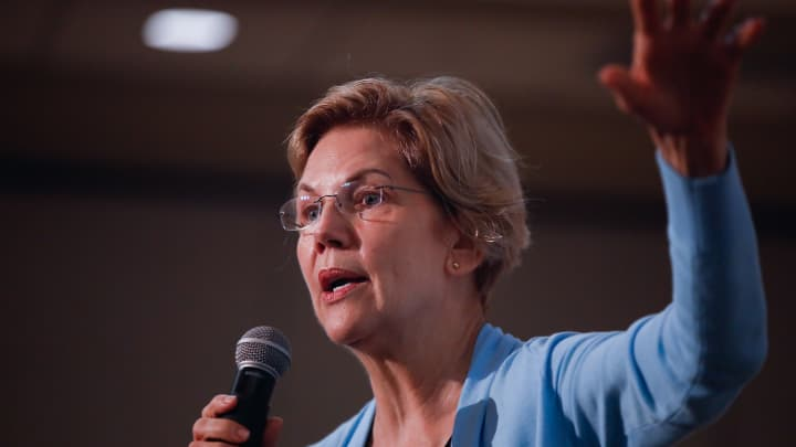 Elizabeth Warren says the 'warning lights are flashing' for the next economic crash
