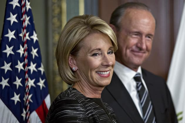Secretary Of Education Calls For End To >> Betsy Devos Profits After Trump Tax Bill And Deregulation