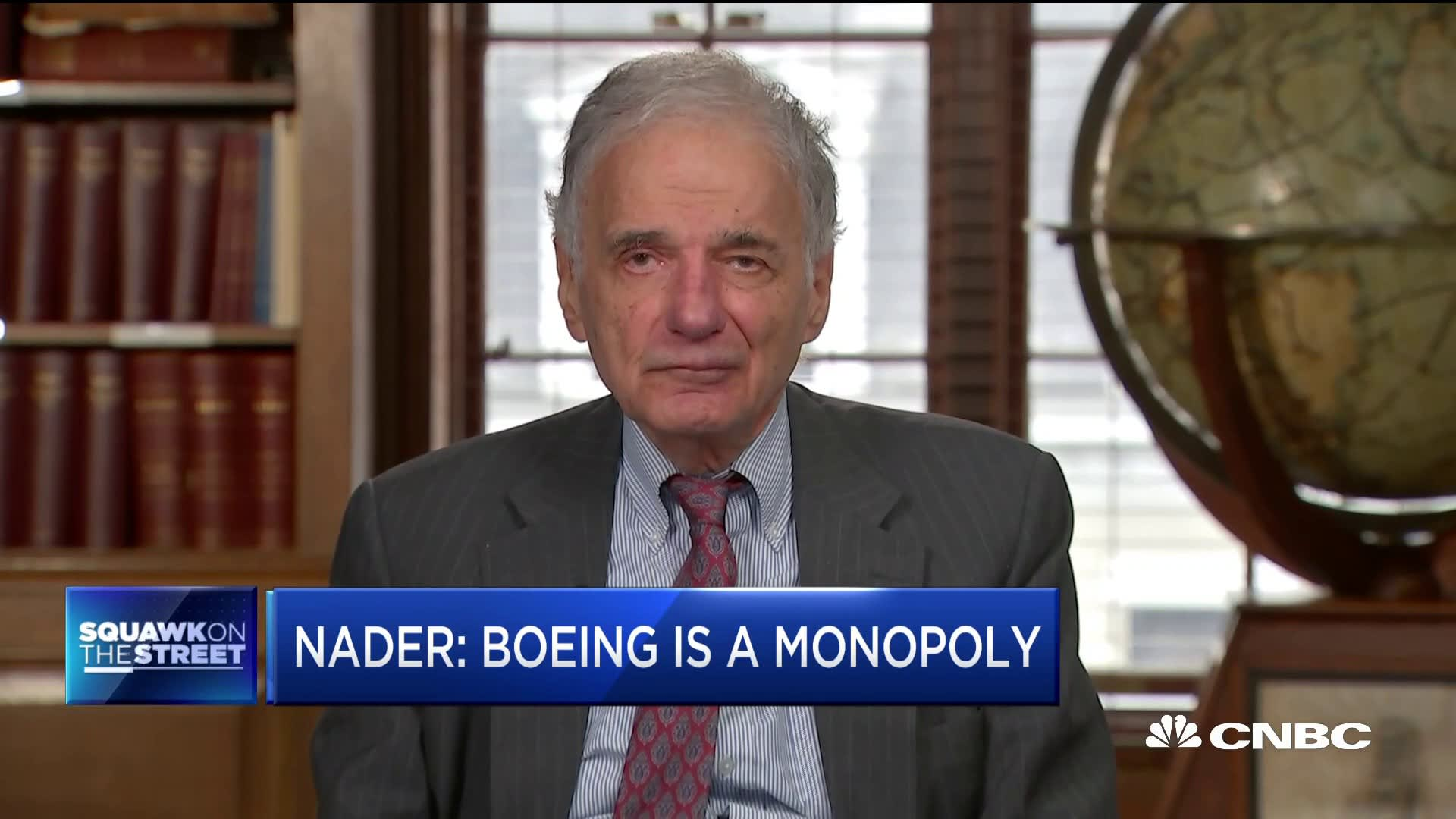 Consumer advocate Ralph Nader says Boeing 737 Max should never fly again