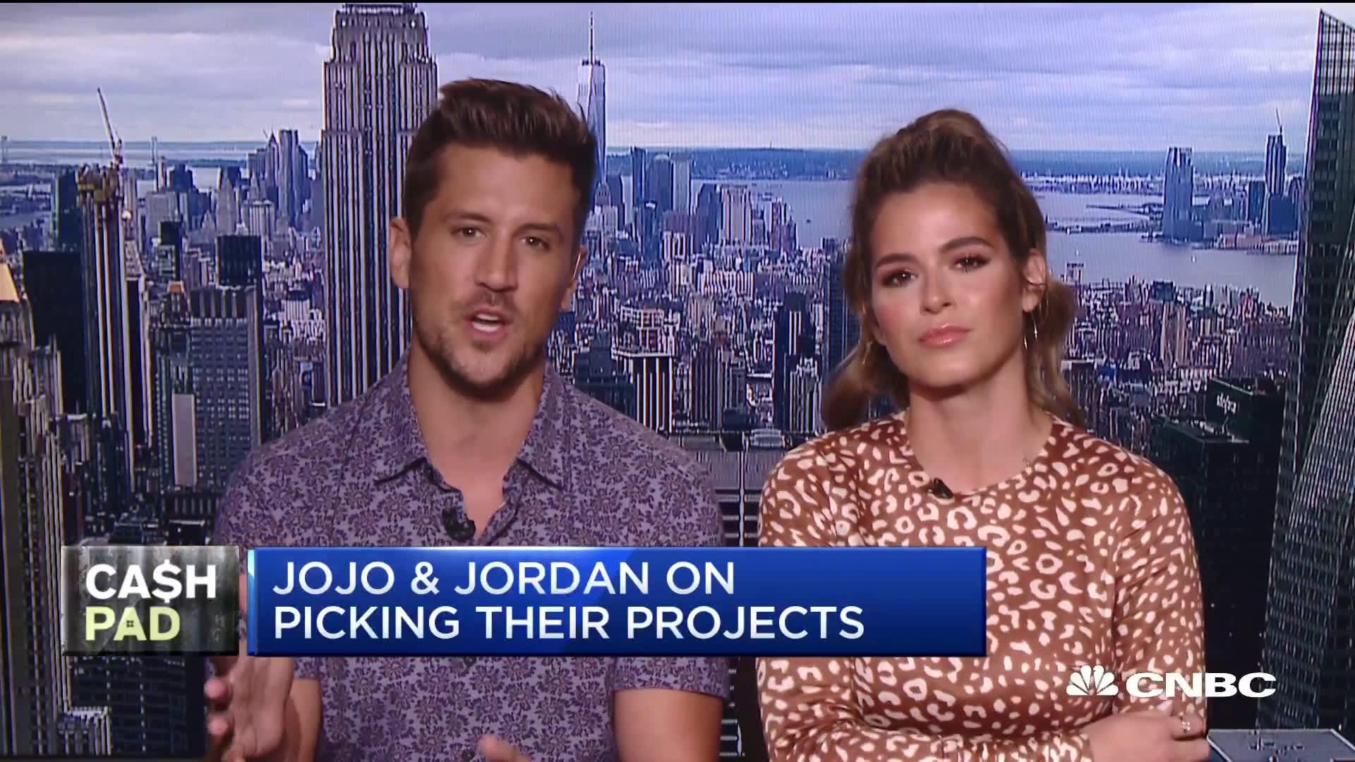 Former 'The Bachelorette' contestants JoJo Fletcher and Jordan Rodgers  discuss their new show 'Cash Pad'