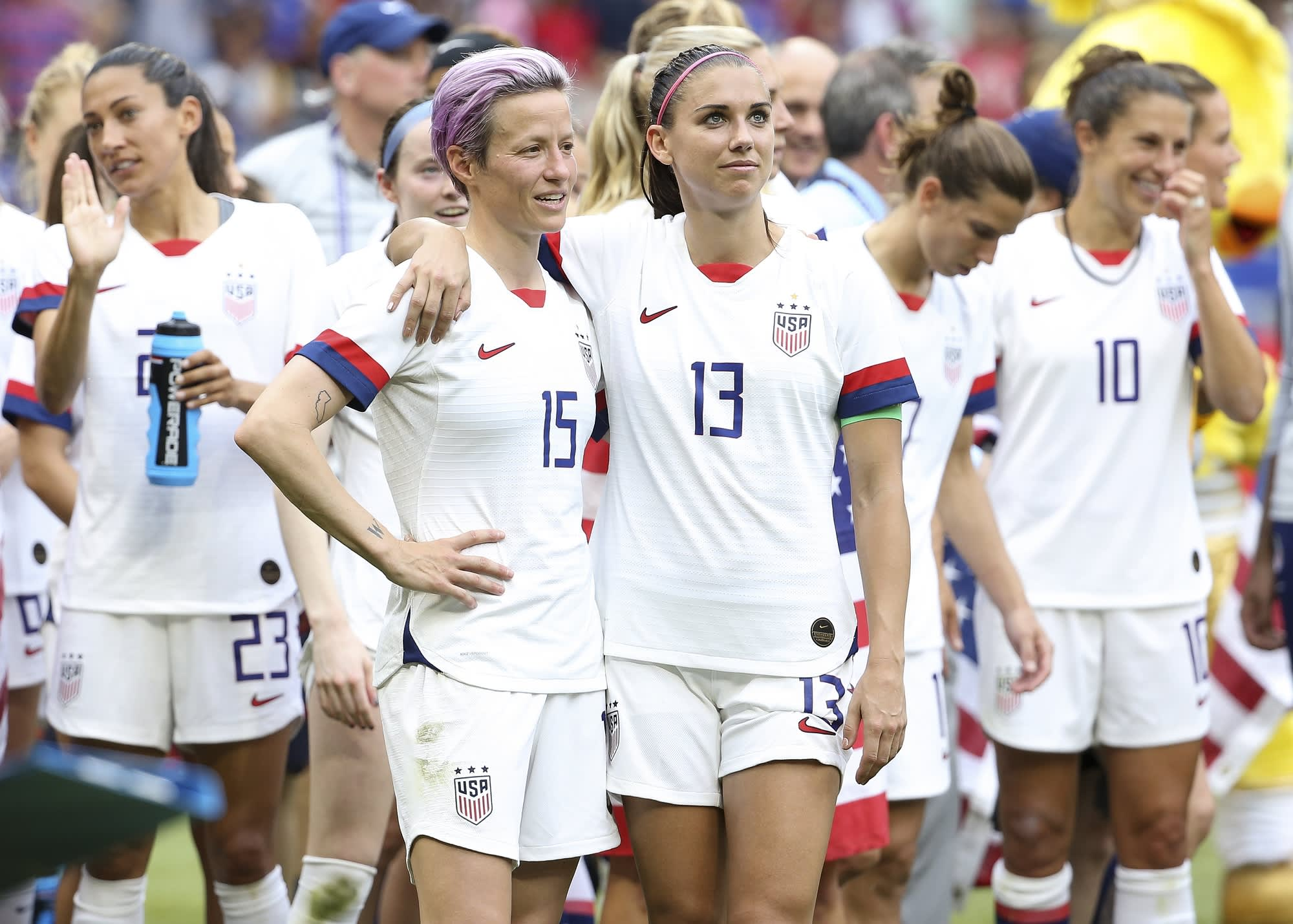 US women's soccer pay dispute intensifies, as FIFA approves an expanded World Cup