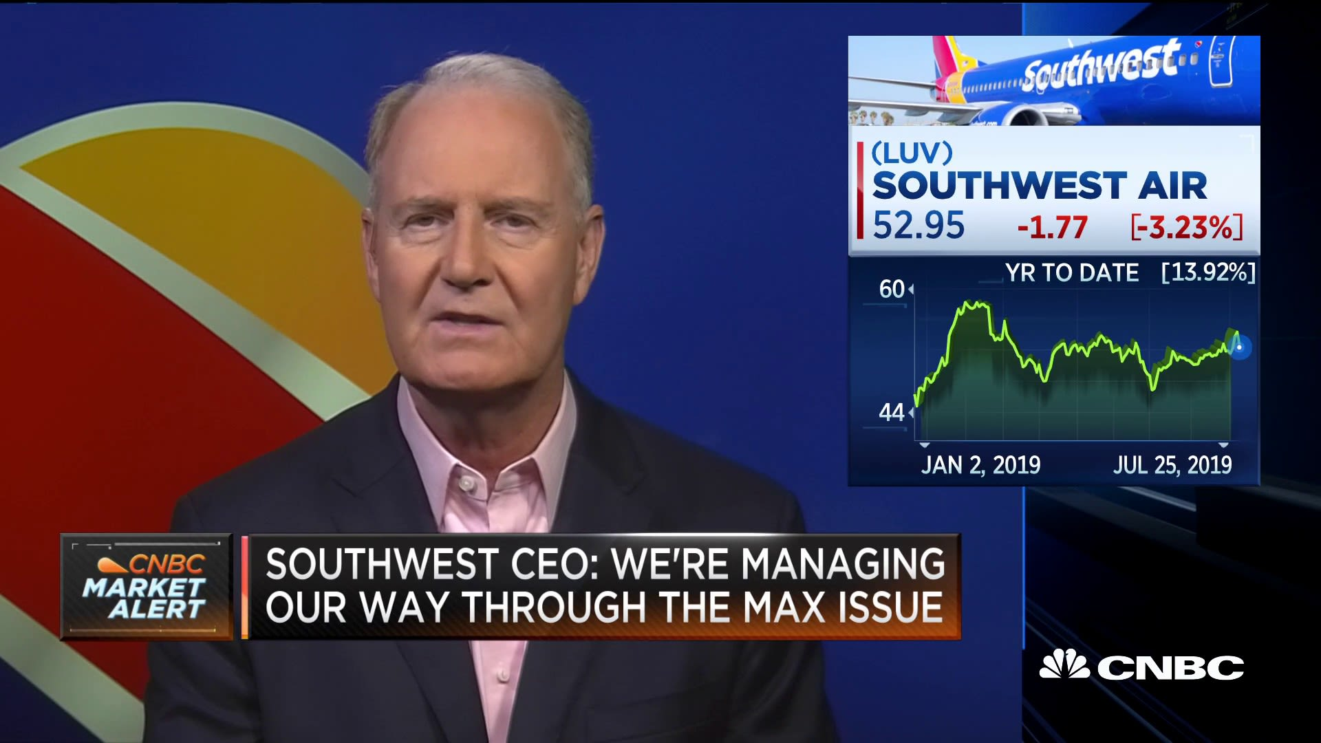 Southwest CEO Gary Kelly on the decision to stop service at Newark