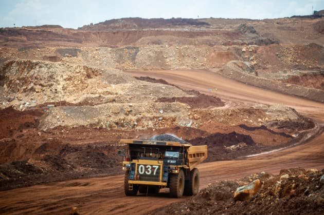 GP: Heavy trucks seen working at PT Vale Indonesia's nickel mining area 190726