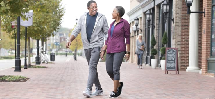 GP: Senior couple walking retirement