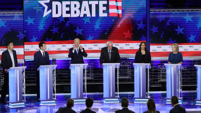 GP :Democratic Presidential Candidates Participate In First Debate Of 2020 Election Over Two Nights