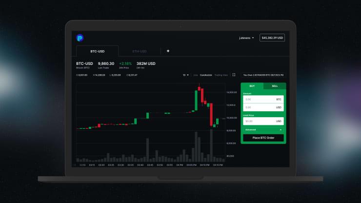 One time use: Blockchain crypto exchange