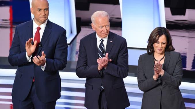GP: Dems debate Detroit: Cory Booker, Kamala Harris, Joe Biden 190731