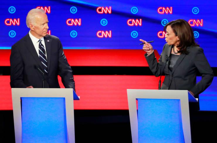 RT: Dems debate Detroit: Joe Biden and Kamala Harris 190731