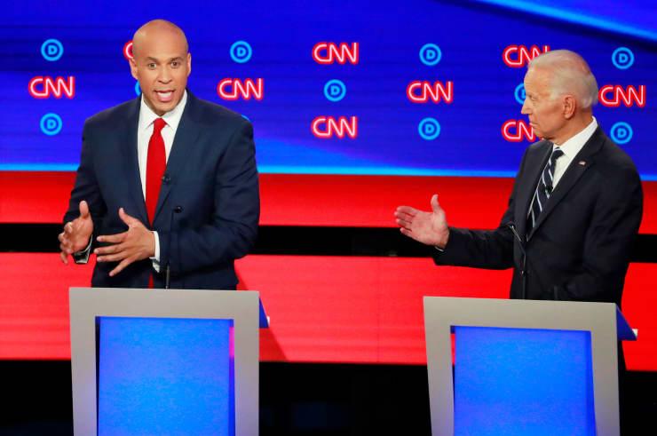 RT: Dems debate Detroit: Cory Booker and Joe Biden 190731
