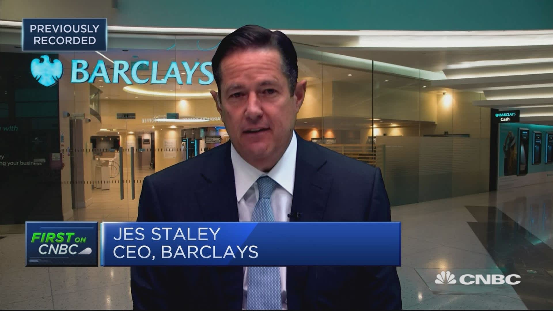 Barclays CEO: Focused on bringing return on tangible equity to double digits