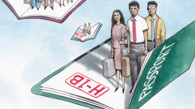 GP: H-1B Visa High-tech Visa graphic