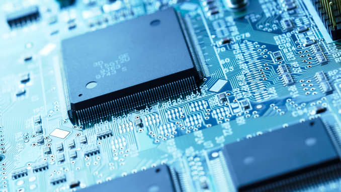 GP: Close up of semiconductors