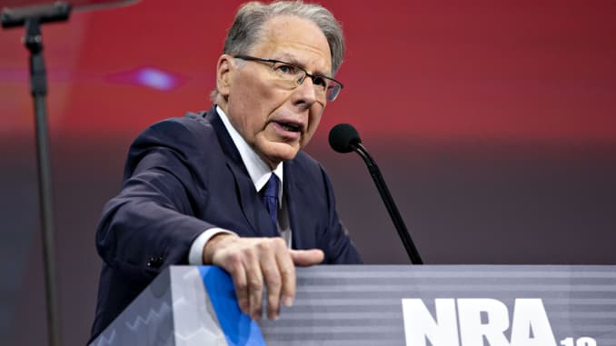 GP: Wayne LaPierre, chief executive officer of the National Rifle Association (NRA Inside The National Rifle Association Foundation Annual Meeting