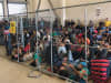 In this handout photo provided by the Office of Inspector General, overcrowding of families is observed by OIG at U.S. Border Patrol McAllen Station on June 10, 2019 in McAllen, Texas. (Photo by Office of Inspector General/Department of Homeland Security via Getty Images)