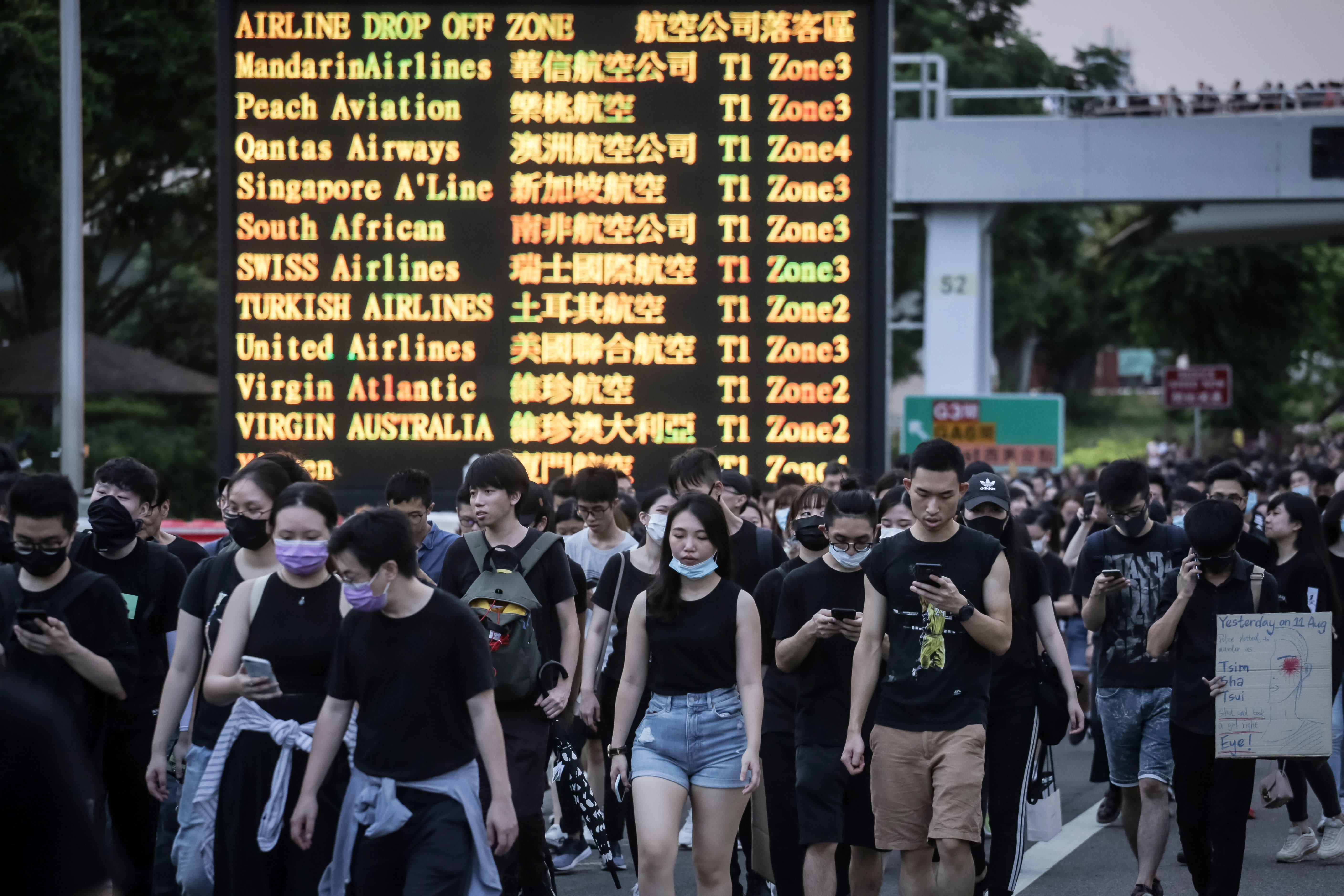 Global firms are sounding the alarm as escalating Hong Kong protests deal a 'serious blow' to the city's outlook
